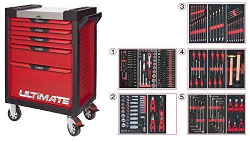 KS Tools 809.7311PearLline carro 7cajones cajonera de 311herramientas rojo
