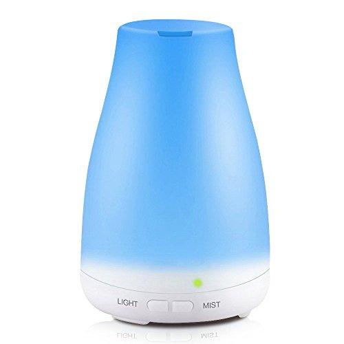 KBAYBO Humidificador ultrasónico difusor de aromaterapia, Vapor frío con Luces LED de Color, difusor de aceites Esenciales sin Agua con Apagado automático