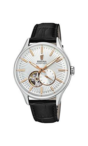 Festina Herren Analog Automatik Uhr mit Leder Armband F16975/1