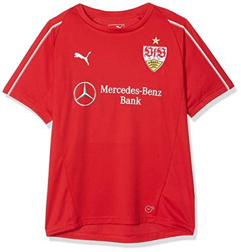 PUMA Kinder VfB Stuttgart with Sponsor Training Jersey, Ribbon Red White, 164