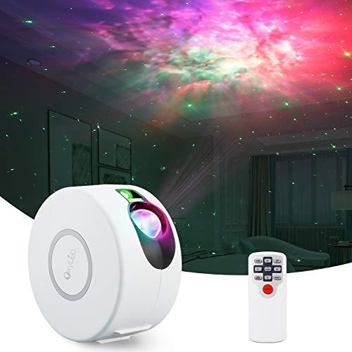 LED Sternenhimmel Projektor,OxyLED Bunte Nebelwolke Projektor mit Fernbedienung,einstellbare Geschwindigkeit und Helligkeit Sternenhimmel Nachtlichter für Kinder Audults Schlafzimmer Party