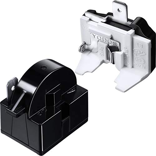 QP2-4.7 PTC Starter Relay 1 Pin Refrigerator Starter Relay and 6750C-0005P Refrigerator Overload Protector Compatible with LG Refrigerator Compressor, 2 Pieces in Total