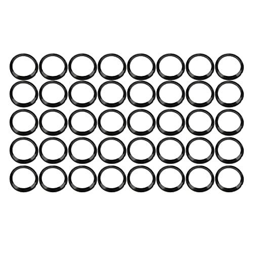 Anillo de Prueba de bobinado de caña de Pescar de 40 Piezas, Anillo de Control de bobinado Adaptador de Cubierta de Anillo de decoración de Control de bobinado de Silicona para componentes(19MM)