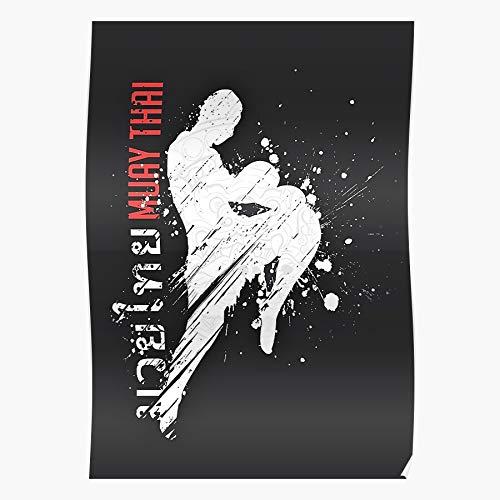 MADEWELL Muay Judo Kickboxing Taekwondo Martial Thai Kick Boxing Das eindrucksvollste und stilvollste Poster für Innendekoration, das derzeit erhältlich ist