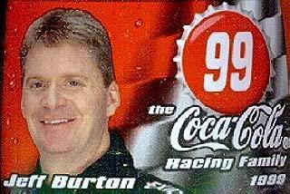 #99 Jeff Burton NASCAR 1999 Coca Cola bottle