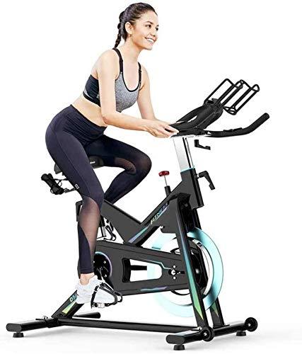 Wghz [Promozione 2021] Ciclismo Indoor Cyclette Cyclette - con Display LCD Sedile e Maniglia Regolabili - per Allenamento Cardio da casa
