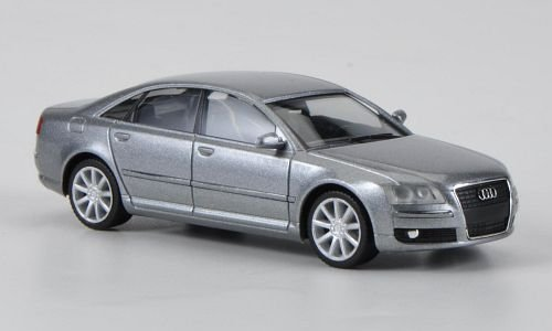 Audi A8, met.-grau, 2005, Modellauto, Fertigmodell, Herpa 1:87
