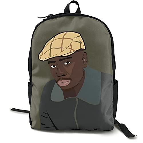 Dave-Chappelle Mochilas para libros escolares para niños y adolescentes de moda mochila de viaje portátil bolsa