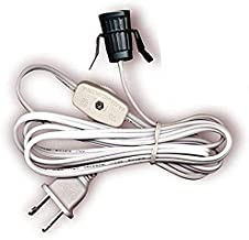 Creative Hobbies 708N1 Single Light Replacement Clip in Lamp Cord for Christmas Village House, Pumpkin Lights, Small Objects (1)
