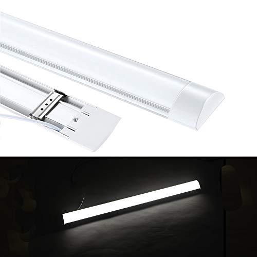 LED Feuchtraumleuchte 60cm 20W Ultraslim, led Röhre Tageslicht 4000k 3600 Lumen, IP65 Wasserfest für Einsatz im Aussenbereich geeignet, Keller, Werkstatt, Hobbyraum [Energieklasse A++]
