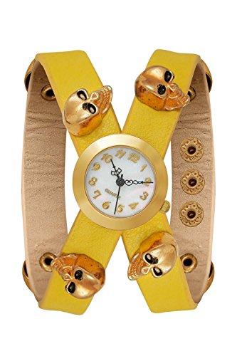 New Trend Unisex Armbanduhr Damen-Uhr Herren-Uhr, Analog Display, Quarzwerk, Totenkopf Skull Sugar Candy Mexico Candyskull Sugarskull Pirat Kostüm