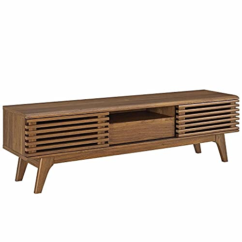 Modway Render Mid-Century Modern Low Profile 59 Inch TV Stand in...