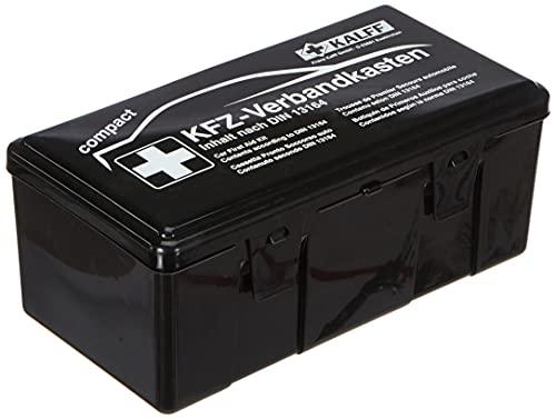 KALFF 23503 Auto verbanddoos Compact Din 13164, auto EHBO-set, box voor kofferbak, noodaccessoires voor auto, motorfiets…