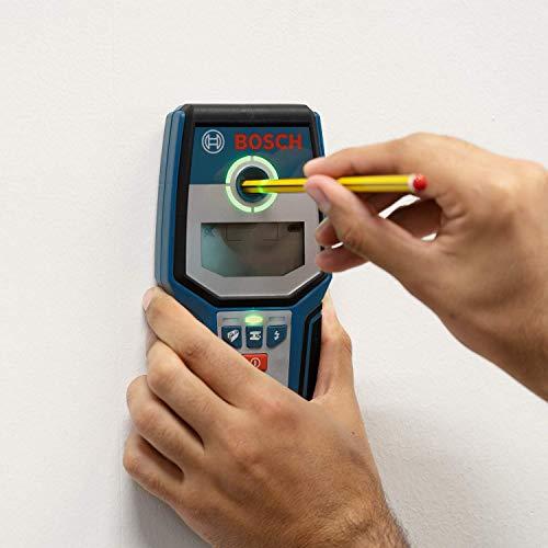 Bosch Professional Digitales Ortungsgerät GMS 120 (1 x 9 V Block Batterie, Schutztasche, max. Ortungstiefe Stahl/Kupfer/stromführende Leitungen: 120/80/50 mm) - 7