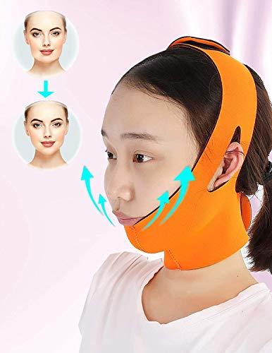 QAZXCV Visage Minceur Mince Visage Ceinture Bracelet en Forme De V Visage Amincissant Bandage Ultra-Lift Contour Sangle pour Femme Anti Affaissement Fermeté Soins De La Peau Massage Band