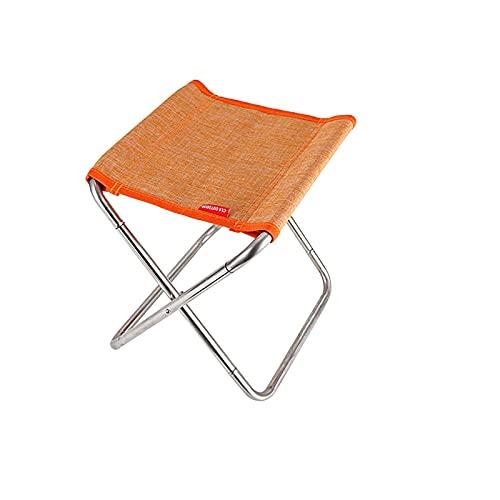 MJJCY Campamento Compacto Taburete Plegable Ultraligero Portátil Mini Silla para Acampar Pesca Silla de excursiones Playa para niños Alduts (Color : Orange)