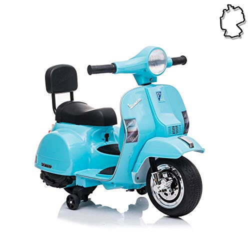 Himoto HSP Kinder Elektro-Motorrad, Elektro-Roller Vespa PX150 mit starkem Motor und wiederaufladbarem Power Akku, Ride on Cars, Fahrzeug bis ca. 3 km/h, Traglast bis max.20 Kg
