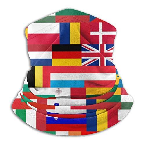Be-ryl Flaggen der EU-Länder Halswärmer Sturmhaube Kapuze Gesichtsschutz Gesichtsmaske Halsmanschette