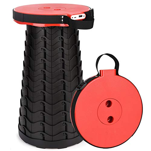 3rd Gen Portable Telescopic Stool with Mobile Charger, Indoor/Gardening/Outdoor Camping Retractable...