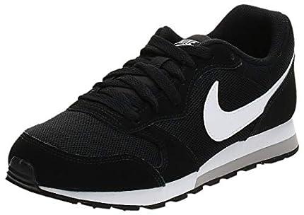 Nike MD Runner 2 GS, Zapatillas de Correr Unisex Adulto, Negro (Black/Wolf Grey/White), 40 EU