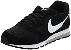Nike MD Runner 2 GS 807316-001, Zapatillas de Running Unisex Adulto, Negro (Black/Wolf Grey/White), 40 EU