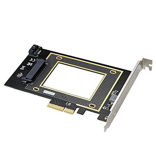 B Blesiya U.2 SSD a PCI-E 3.0 X16 NVME Tarjeta Adaptadora SATA Admite WIN7 / 8/10/32 / Mac/Linux Tecnología Integrada de Mejora de Señal de Velocidad