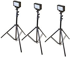 Bescor LED70T Three Point Studio Lighting Kit