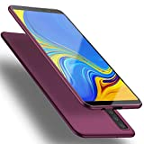 X-level Funda para Samsung Galaxy A7 2018, Carcasa para Samsung Galaxy A7 2018 Suave TPU Gel Silicona Ultra Fina Anti-Arañazos y Protección a Bordes Funda Phone Case para Galaxy A7 2018 - Vino Rojo