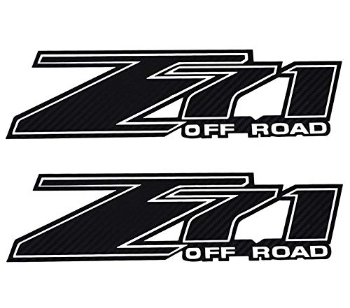Pair Set Z71 Off Road Truck Stickers Decals Badge Replacement For Chevy Silverado (Black)