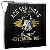 GSEGSEG Wasserdichter Polyester-Duschvorhang Ace Venturas Humane Animal Extermination Print Dekorativer Badezimmer-Vorhang mit Haken, 182,9 cm x 182,9 cm