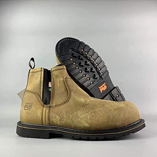 LBHH Zapatos de Trabajo Proceso Goodyear + Primera Capa de Piel de Vacuno + configuración técnica Entresuela Anti-pinchazos + Tacto cómodo del pie,Plantilla antifatiga en Forma de Panal
