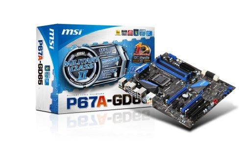 MSI LGA1155/Intel P67 B3/DDR3/SATA3&USB3.0/A&GbE/ATX Motherboard P67A-GD65 (B3)