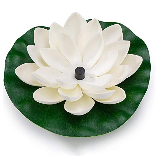 oshidede Fuente De Agua Solar Lotus De 7V 1.2W con 7 Boquillas, 180L / H, Flotante para Decoración De Jardín, Baño para Pájaros, Estanque, Pecera, Piscina