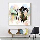 Moderno salón de belleza peluquería cuadros abstractos carteles impresiones lienzo pintura pared arte imagen para interior decoración de oficina