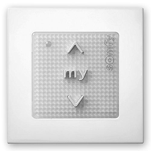 Somfy Smoove Origin Funk-Wandsender für Rollladen, Weiß