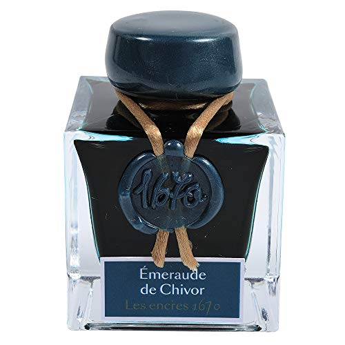 Jacques Herbin 1670 Blue Ocean - Inchiostro, 50 ml 1670 Smeralo di Chivor