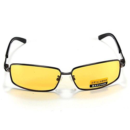 OUTERDO Polarized UV400 TAC Sunglasses Night Vision Driving Glasses