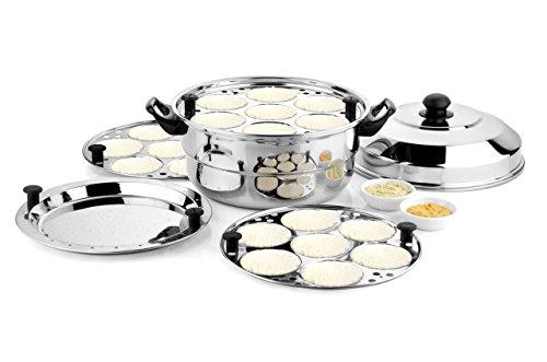 LUXURIA IDLY Pot & Steamer (21 IDLY) (Free:1 Mini IDLY Plate)