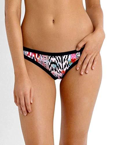 Seafolly Women's Hipster Bikini Bottom Swimsuit, Beach Gypsy Nectarine, 8 US
