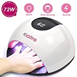 Kiaitre 72W Gel UV LED Nail Lamp - 36 Lamp Beads Nail Dryer with 4 Time Setting, Automatic Sensor UV Light for Gel Nails and Toe Nail Polish