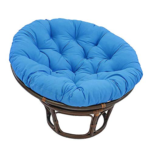 KSWD Outdoor Thick Papasan Chair Cushion with Ties Waterproof Egg Nest Chair Pads Thicken Comfortable For Patio Garden-50x50cm(20x20inch) Blue