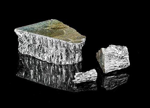 chixia 1KG Bismut Wismut Kristall Metall 99.99% Reine Kristallgeoden Wismutstück