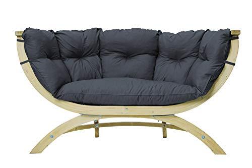 AMAZONAS Lounge Sofa Siena Due Anthracite aus FSC Fichtenholz ca. 170 x 95 x 65 cm bis 250 kg in Dunkelgrau