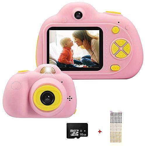 QYWSJ Mini Cámara Digital para Niños,Videocámara a Prueba de Choques Creativa de Pantalla 2 Pulgadas, Grabadora de Video de Doble Cámara 1080P,4X Zoom Digital,Regalos para Niñas y Niños