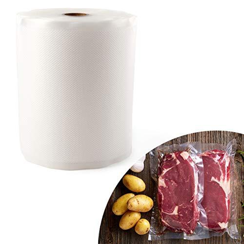 Anladia Folienrolle 15cmx3000cm/1 Roll Vakuumfolie Beutel wiederverwendbar Rutschfest für Lebensmittel Sous-Vide, für Folienschweißgeräte Kochfest Profi- Folienbeutel Lebensmittellagerung(S)
