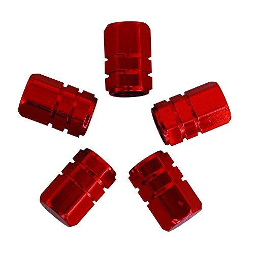 Carpoint 2216008 Caches Valve Piston 5Pièces Rouge