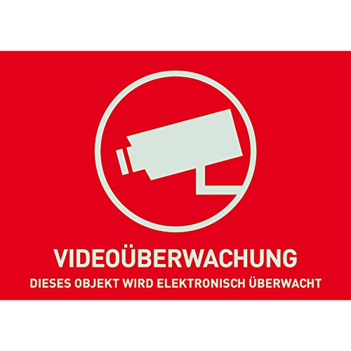 ABUS Warnaufkleber Videoüberwachung, 74 x 52,5 mm, AU1321