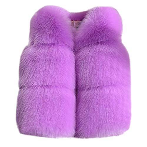 Beautynie Baby Mädchen Waistcoat Weste Winter warme Fleeceweste Plüschmantel ärmellose Jacke Süß und schön Mantel