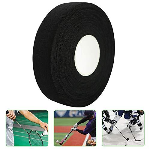 Cinta de Hockey - Cinta de Palo de Hockey Negra, Cinta de Agarre Palo de Hockey sobre Hielo Campo, Cinta Antideslizante Agarre para Bádminton/Raqueta Ping-Pong/Bastón Golf/Raqueta Tenis Squash