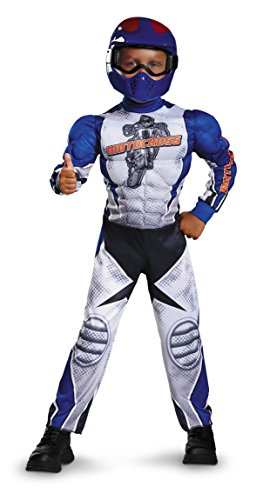 Disguise Motorcycle Rider Toddler Muscle Costume, Medium/3T-4T